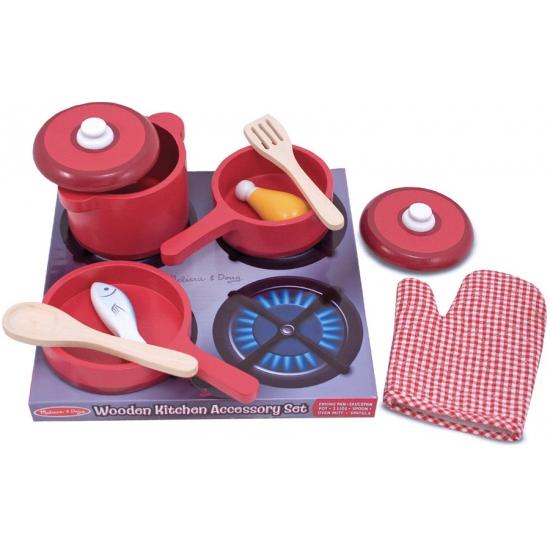 Keuken Hout Speelgoed : Houten keuken accessoires set. Speelgoed accessoires voor in een speel