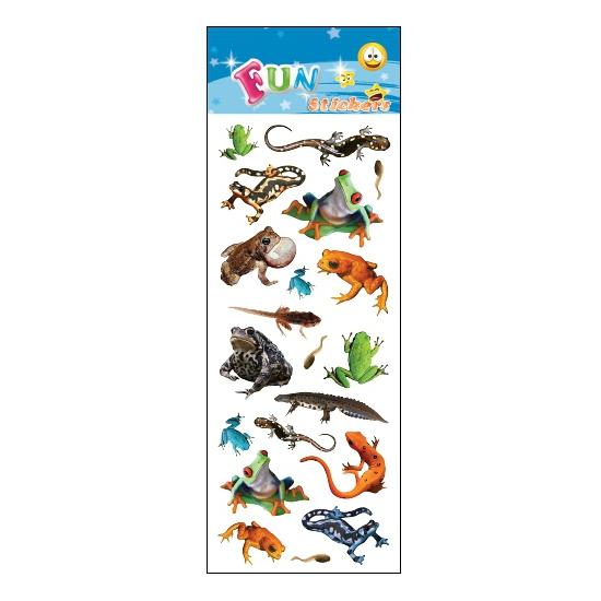 Poezie album stickers amfibieen