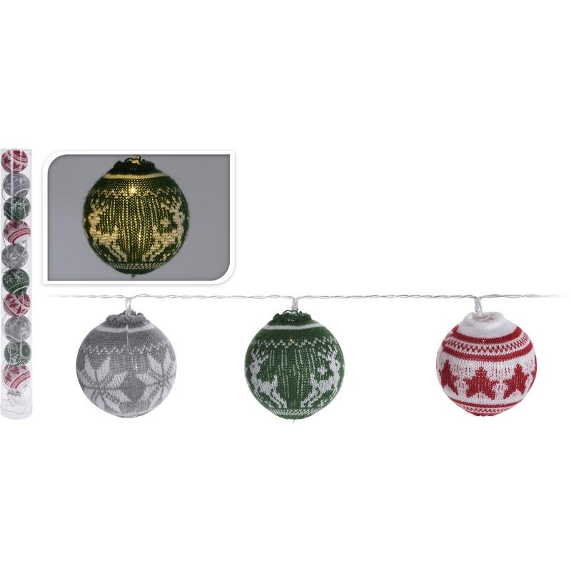 Gekleurde kerstverlichting verlichting met LED kerstballen 65 cm