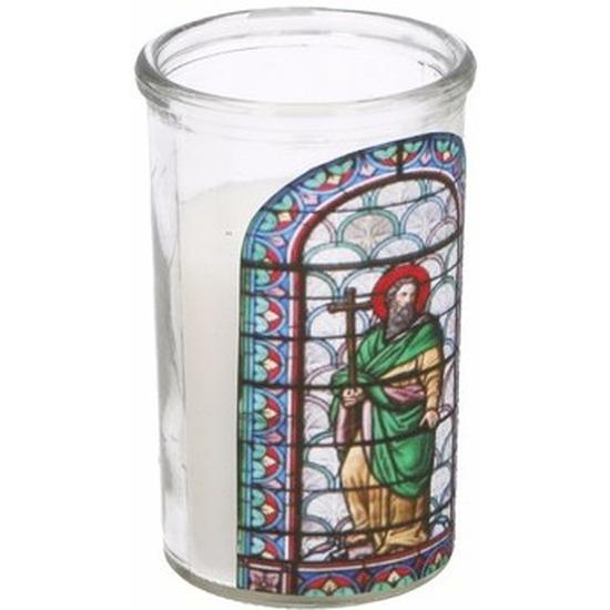 Glas in lood kaars Jozef type 4