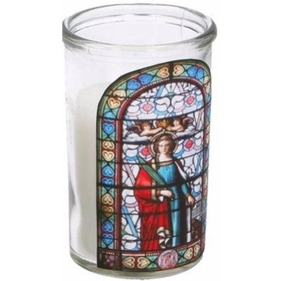 Glas in lood kaars Maria type 3