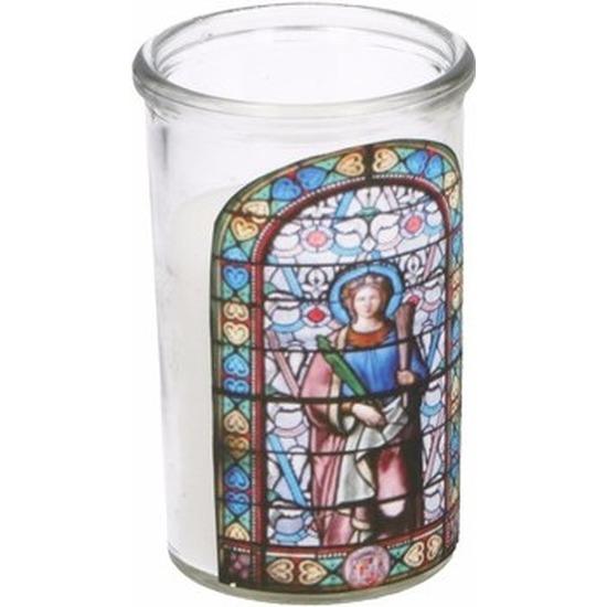 Glas in lood kerstkaars Maria type 1