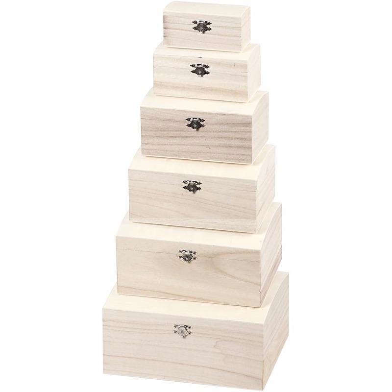 houten doos hart hobby