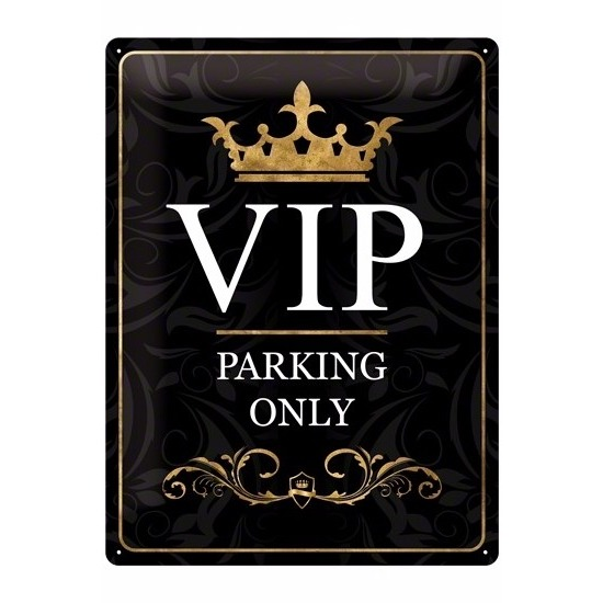In Hollywood stijl metalen plaat voor VIP.