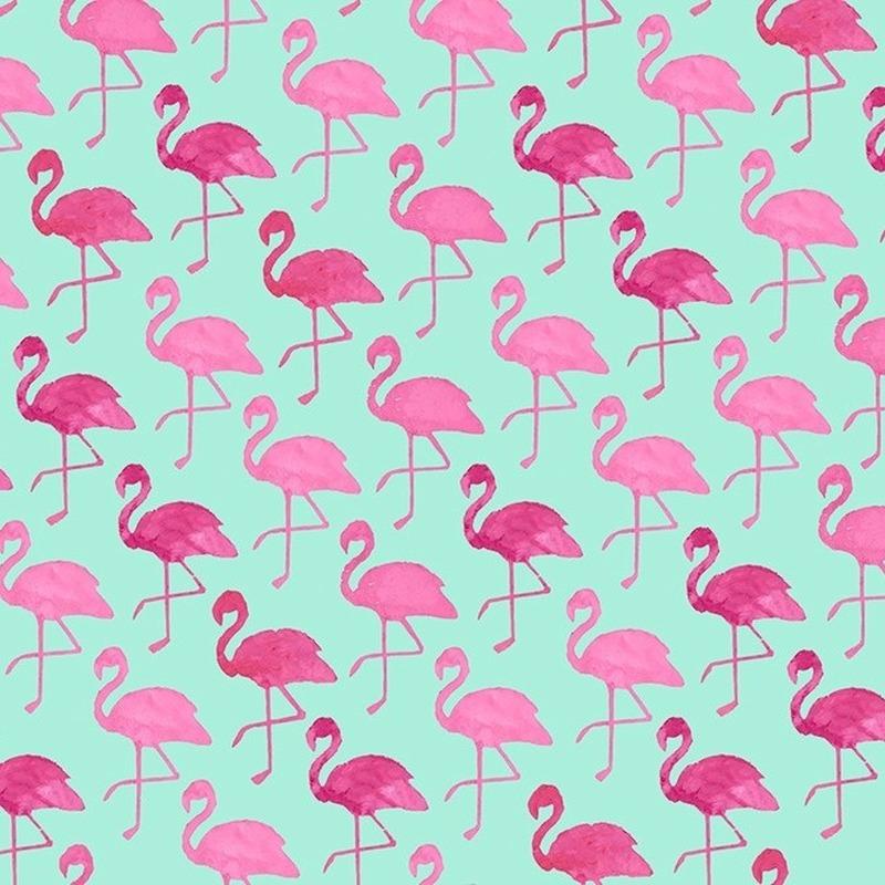 Kadopapier groen met flamingo 70 x 200 cm hobbymax de for Bureau 70 cm de large