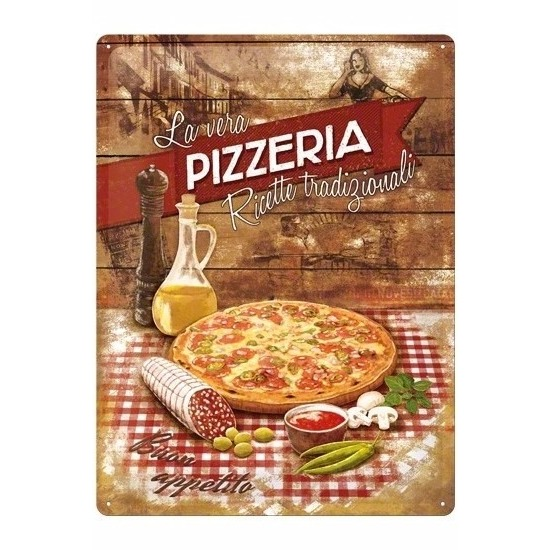 Pizza metalen plaat 30 x 40 cm