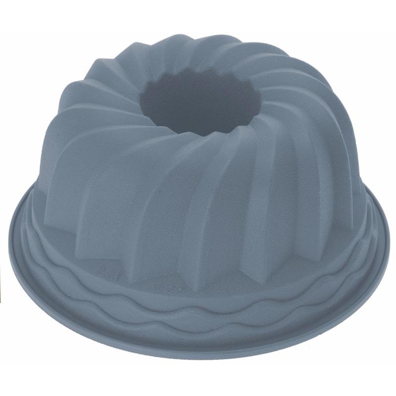 Tulband bakken bakvorm van siliconen materiaal 24 cm