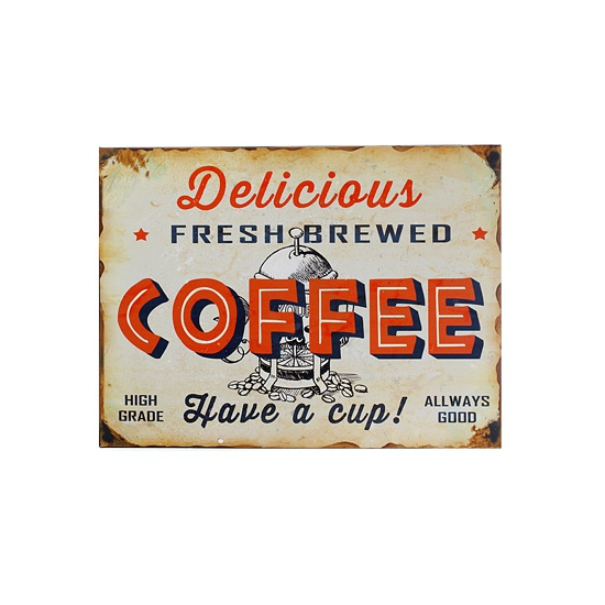 Wand bordje koffie 30 x 40 cm