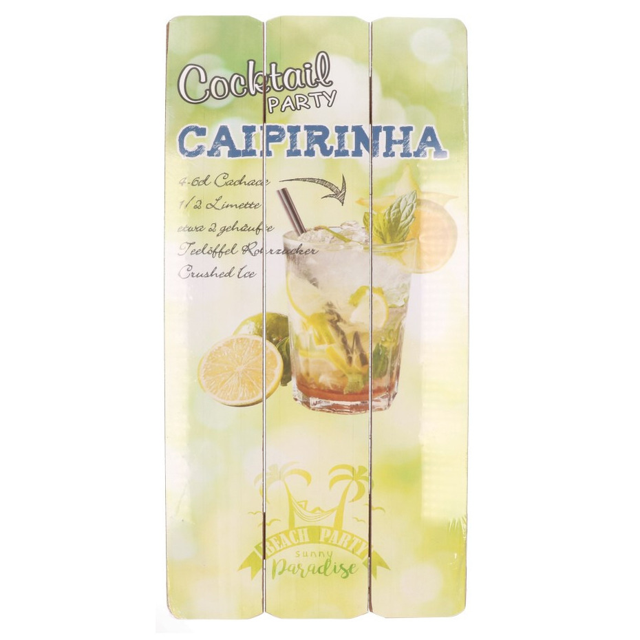 Wanddecoratie bordje Caipirinha cocktail