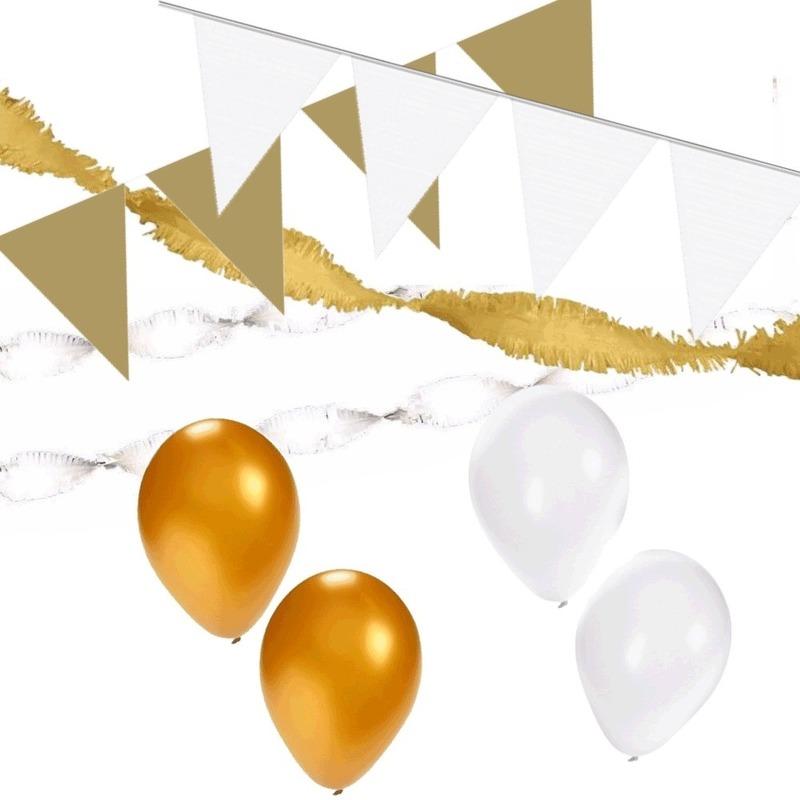 White and Gold feest thema versiering pakket huiskamer