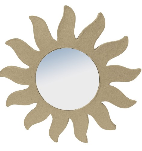 papier mache zon met spiegel