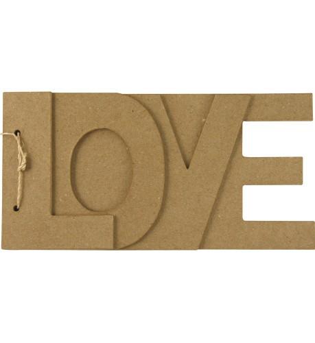 papier mache boekje love