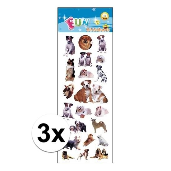 3x Poezie album stickers honden