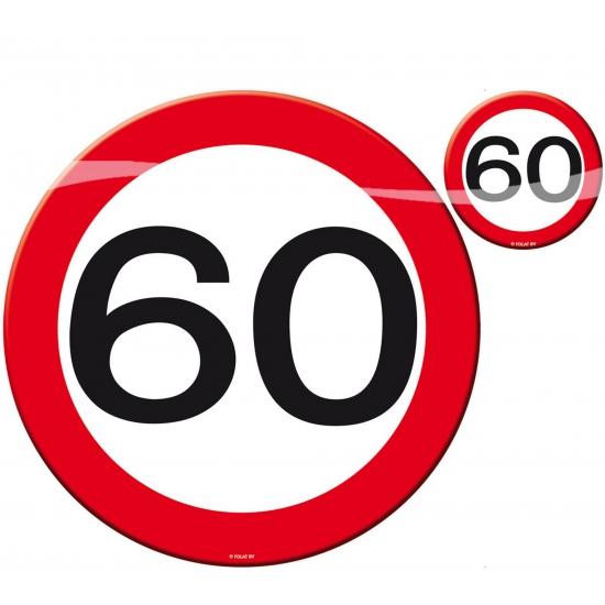 60 jaar verjaardag tafel decoratie