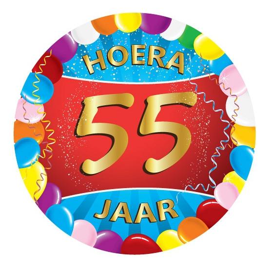 Verrassend 55 jaar verjaardag party viltjes | Hobbymax - de online hobby winkel BZ-08
