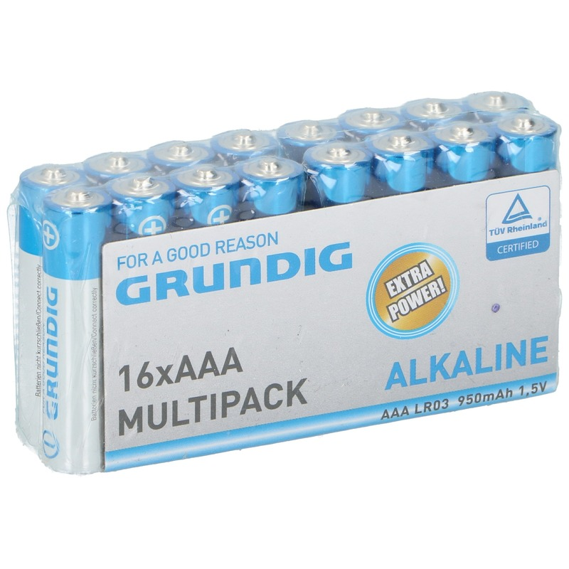 Grundig LR03 AAA batterijen 16 stuks