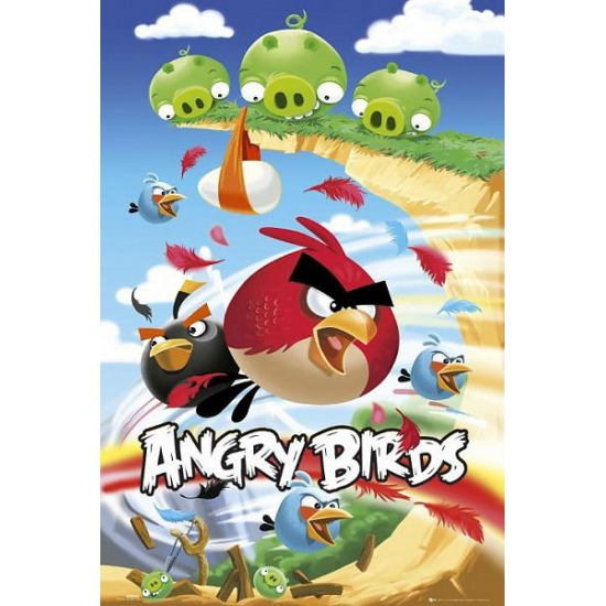 Muur decoratie Angry Birds