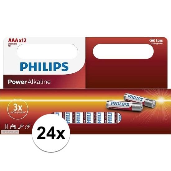 Philips LR03 AAA batterijen 24 stuks