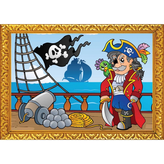Piraten wandversiering poster boot
