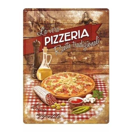 Pizza metalen plaat 30 x 40 cm
