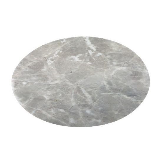 Ronde tafel onderlegger marmerlook grijs 38 cm