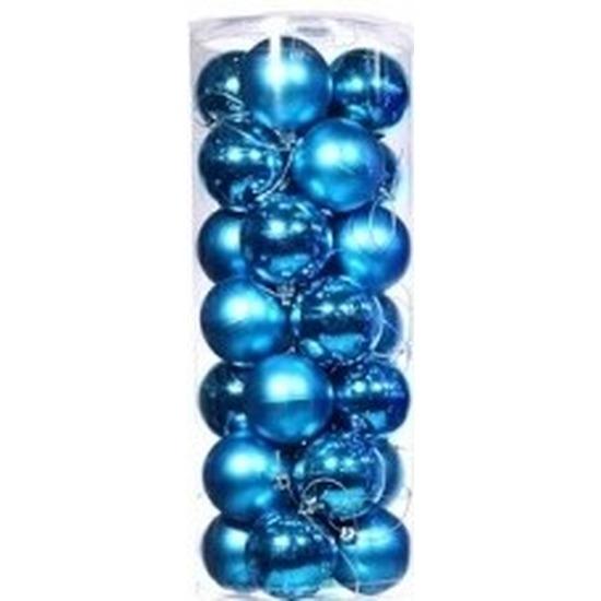 Turquoise Mini Kerstballen 28 Stuks Hobbymax De Online Hobby Winkel