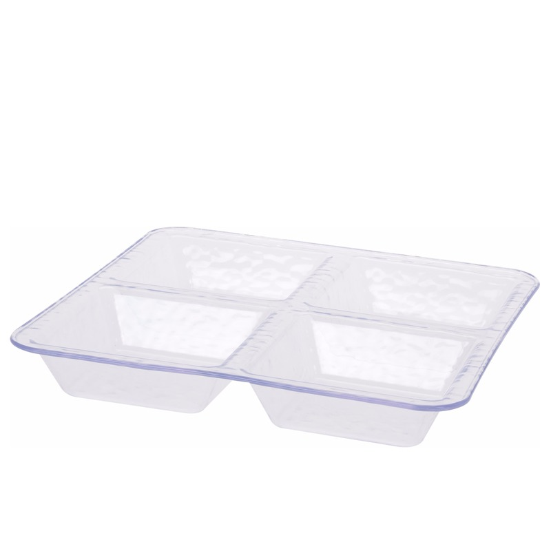 Vakkenbord voor snacks vierkant met vakken