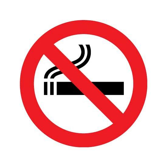 Verboden te roken sticker