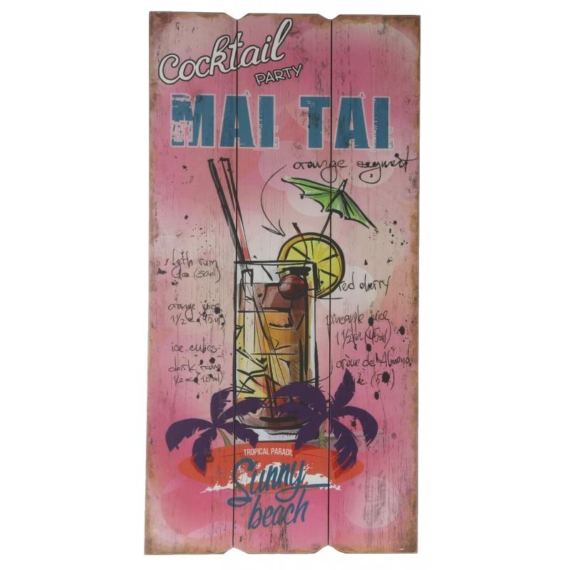 Wanddecoratie bordje Mai Tai cocktail